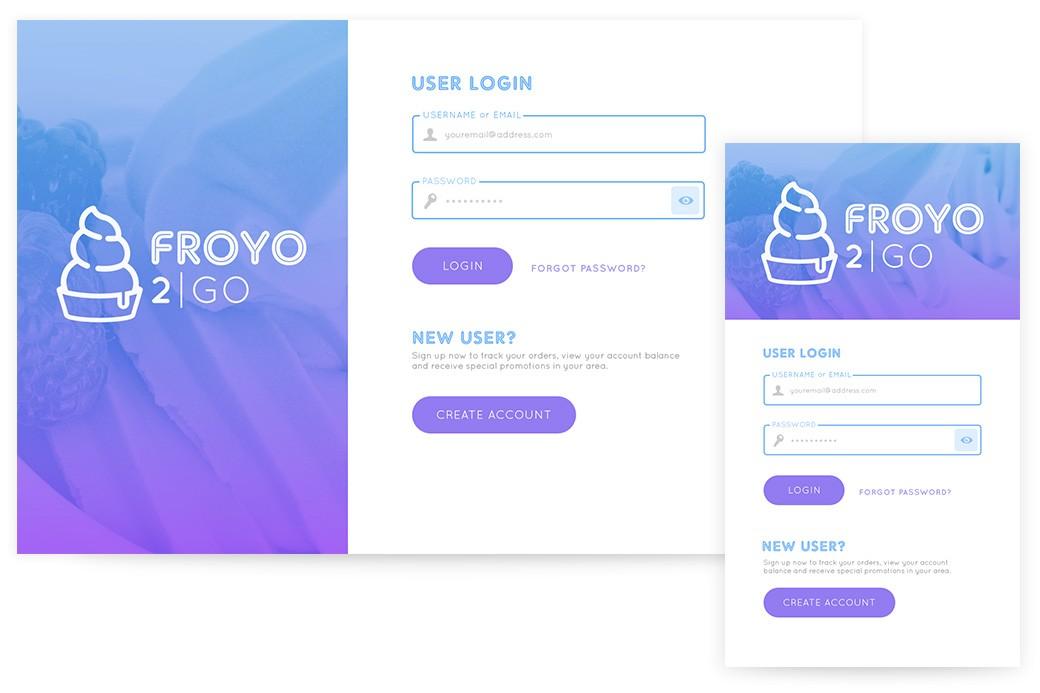 FroYo 2Go App Concept | Josh Wilkerson | Front-End Developer